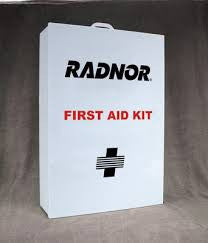 Radnor Empty Three-Shelf 25 Person Industrial First Aid Cabinet