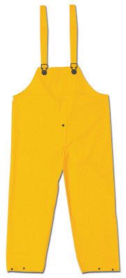 River City Garments Large Yellow Classic .35 mm Polyester And PVC Rain Bib Pants With Snap Fly Closure