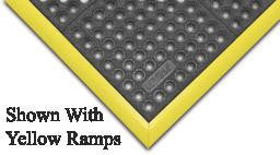 "Superior Manufacturing Notrax 3' X 3' Black Niru Cushion-Ease GSII 3/4"" Thick Wet/Dry Anti-Fatigue Mat With Grit"