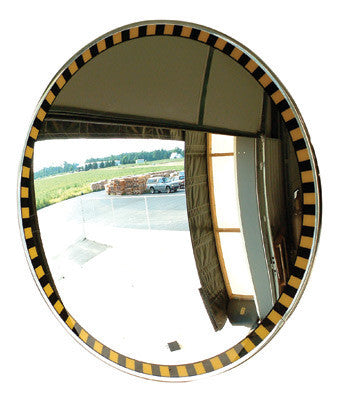 "Se-Kure View 30"" Acrylic Indoor Convex Security Mirror With Safety Border"