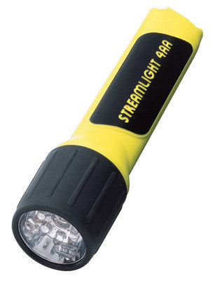 Streamlight Yellow ProPolymer 4AA LUX Division 2 Flashlight (4 AA Batteries Included)
