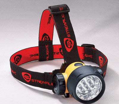Streamlinght Yellow And Black Septor LED Alkaline Powered Headlamp (3 AAA Alkaline Batteries Included)