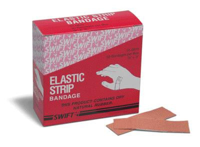 "Swift First Aid 7/8"" X 3"" Heavy Woven Strip Adhesive Bandage (50 Per Box)"