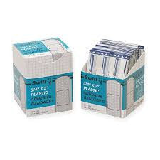 "Swift First Aid 3/4"" X 3"" Plastic Strip Adhesive Bandage (750 Per Pack)"