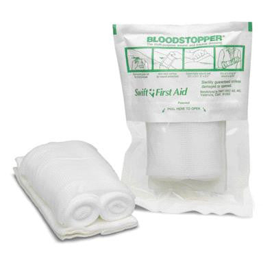 "Swift First Aid 3 1/2"" X 5 1/2"" Bloodstopper Multi-Functional Trauma Dressing Bandage"