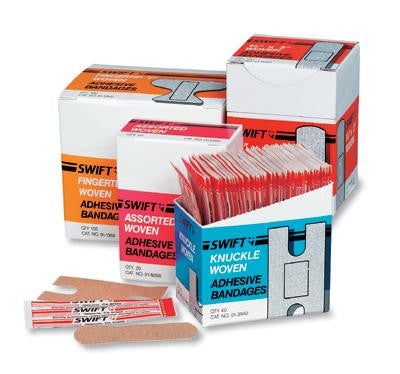 "Swift First Aid 1"" X 3"" Woven Strip Adhesive Bandage (50 Per Box)"
