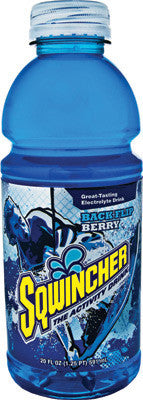 Sqwincher 20 Ounce Wide Mouth Ready To Drink Bottle Backflip Berry Electrolyte Drink (24 Each Per Case)