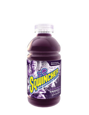 Sqwincher 12 Ounce Wide Mouth Ready To Drink Bottle Gridiron Grape Electrolyte Drink (24 Each Per Case)