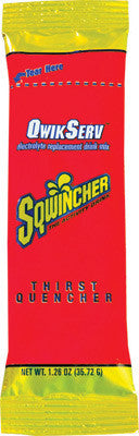 Sqwincher 1.26 Ounce Qwik Serve Powder Concentrate Fruit Punch Electrolyte Drink - Yields 16.9 Ounces (8 Packages Per Box)