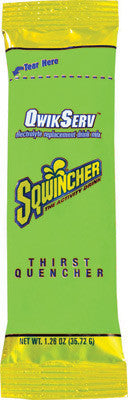 Sqwincher 1.26 Ounce Qwik Serve Powder Concentrate Lemon Lime Electrolyte Drink - Yields 16.9 Ounces (8 Packages Per Box)