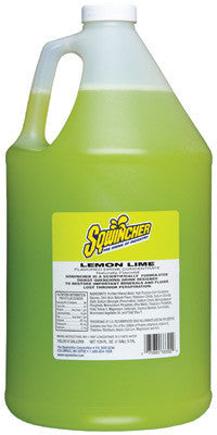 Sqwincher 128 Ounce Liquid Concentrate Lemon Lime Electrolyte Drink - Yields 6 Gallons (4 Each Per Case)