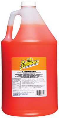 Sqwincher 128 Ounce Liquid Concentrate Orange Electrolyte Drink - Yields 6 Gallons (4 Each Per Case)