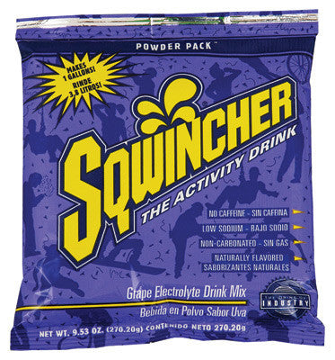 Sqwincher 9.53 Ounce Instant Powder Pack Grape Electrolyte Drink - Yields 1 Gallon (20 Packets Per Box)