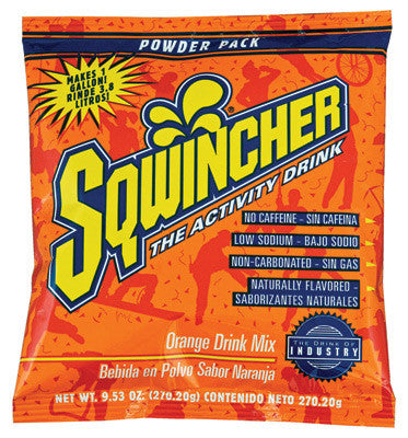 Sqwincher 9.53 Ounce Instant Powder Pack Orange Electrolyte Drink - Yields 1 Gallon (20 Packets Per Box)