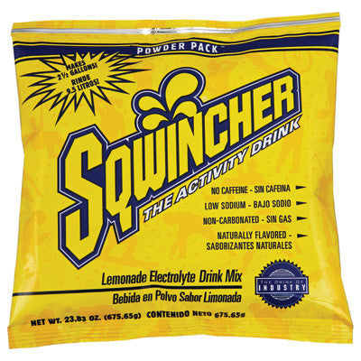 Sqwincher 23.83 Ounce Instant Powder Pack Lemonade Electrolyte Drink - Yields 2 1/2 Gallons (32 Packets Per Case)