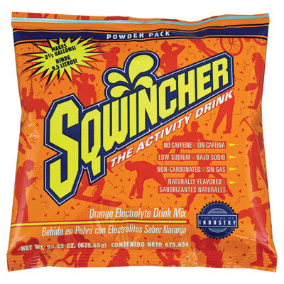 Sqwincher 23.83 Ounce Instant Powder Pack Orange Electrolyte Drink - Yields 2 1/2 Gallons (32 Packets Per Case)