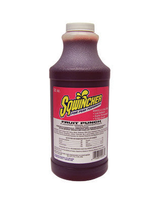 Sqwincher 32 Ounce Liquid Concentrate Fruit Punch Electrolyte Drink - Yields 2 1/2 Gallons (12 Each Per Case)