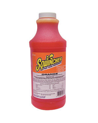 Sqwincher 32 Ounce Liquid Concentrate Orange Electrolyte Drink - Yields 2 1/2 Gallons (12 Each Per Case)