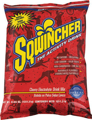 Sqwincher 47.66 Ounce Instant Powder Pack Cherry Electrolyte Drink - Yields 5 Gallons (16 Each Per Case)