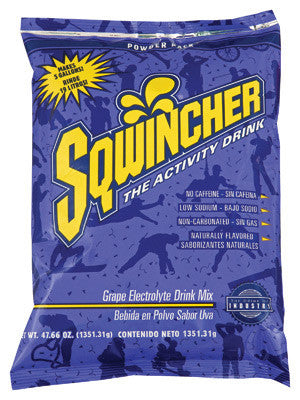 Sqwincher 47.66 Ounce Instant Powder Pack Grape Electrolyte Drink - Yields 5 Gallons (16 Each Per Case)