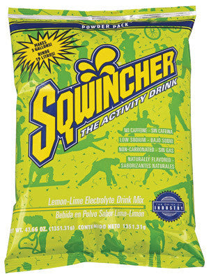 Sqwincher 47.66 Ounce Instant Powder Pack Lemon Lime Electrolyte Drink - Yields 5 Gallons (16 Each Per Case)