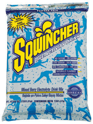 Sqwincher 47.66 Ounce Instant Powder Pack Mixed Berry Electrolyte Drink - Yields 5 Gallons (16 Each Per Case)
