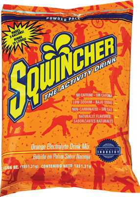 Sqwincher 47.66 Ounce Instant Powder Pack Orange Electrolyte Drink - Yields 5 Gallons (16 Each Per Case)