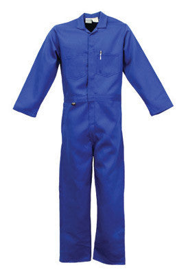Stanco Safety Products Royal Blue Large Flame Resistant Cotton Coveralls