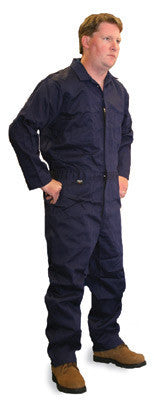 Stanco Safety Products Navy Blue Large Flame Retardant Cotton Coveralls