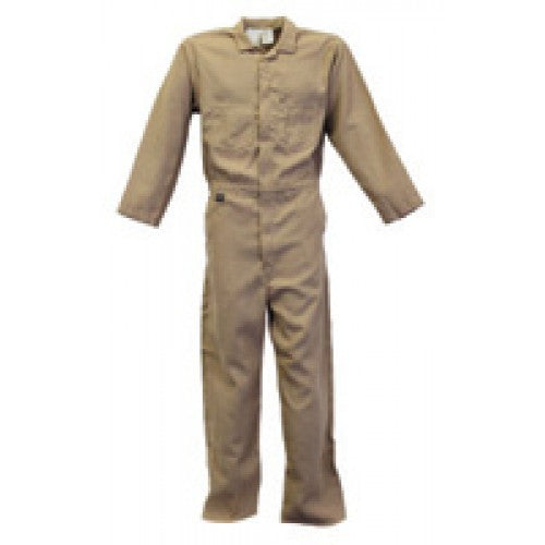 Stanco Safety Products Tan Large Flame Resistant Cotton Coveralls