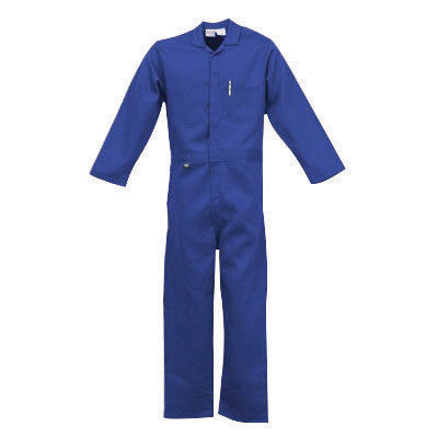 Stanco Safety Products Royal Blue Large Flame Retardant 4.5 oz Nomex Coveralls