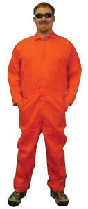 Stanco Safety Products Orange 3X Flame Retardant 4.5 oz Nomex Coveralls