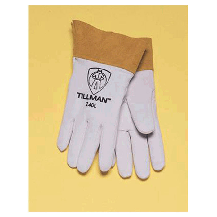 "Tillman  Small Pearl Gray Kidskin Premium Grade TIG Welders Glove With Kevlar Stitching, Straight Thumb And 2"" Cuff"