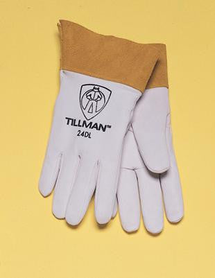 "Tillman  Large Pearl Gray Kidskin Premium Grade TIG Welders Glove With Kevlar Stitching, Straight Thumb And 2"" Cuff"