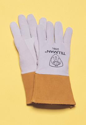 "Tillman  Large Pearl Gray Deerskin Standard Grade TIG Welders Glove With Kevlar Stitching, Straight Thumb And 4"" Cuff"