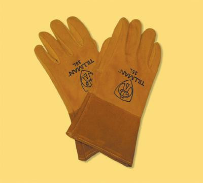 "Tillman  Large Gold Deerskin Welding Glove With 4"" Cuff"