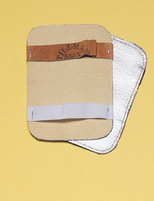 Tillman Silver And Tan Aluminized Rayon And Goldengard Unlined Heat Resistant Backhand Pad