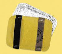 Tillman Silver And Yellow Ceramic Wool And ACK And Goldengard Unlined Heat Resistant Backhand Pad