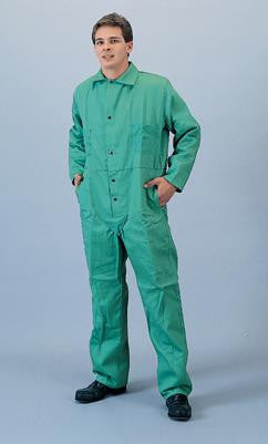 Tillman Green Large 9 oz Cotton Flame Retardant Coveralls