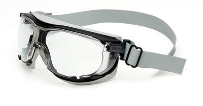 Uvex Carbonvision Impact Goggles With Black and Gray Frame, Clear Dura-Streme Anti-Fog, Anti-Scratch Lens And Neoprene Headband