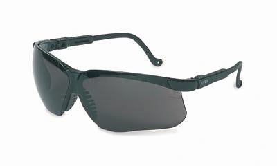 Uvex By Sperian Genesis Safety Glasses With Black Frame And Dark Gray Polycarbonate Uvextreme Anti-Fog Lens