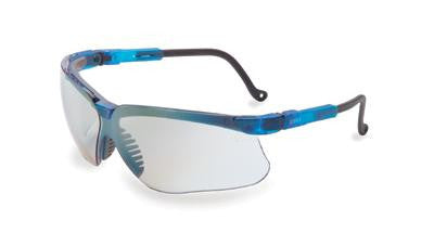Uvex By Sperian Genesis Safety Glasses With Vapor Blue Frame And SCT-Reflect 50 Polycarbonate Ultra-dura Anti-Scratch Hard Coat Lens