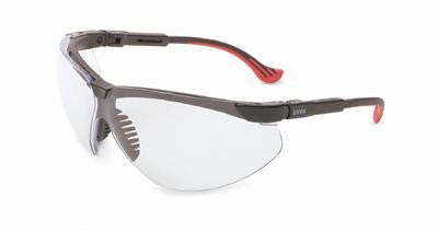 Uvex By Sperian Genesis XC Safety Glasses With Black Frame And Clear Polycarbonate Ultra-dura Anti-Scratch Hard Coat Lens