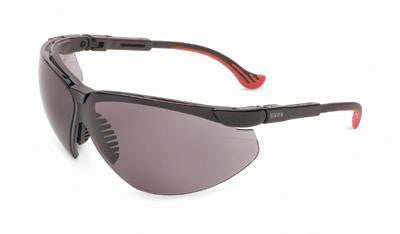 Uvex By Sperian Genesis XC Safety Glasses With Black Frame And Gray Polycarbonate Ultra-dura Anti-Scratch Hard Coat Lens