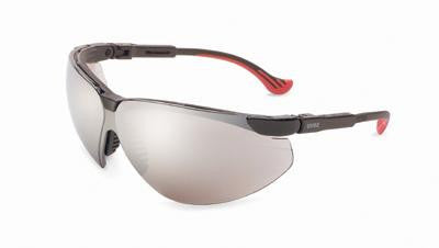 Uvex By Sperian Genesis XC Safety Glasses With Black Frame And Silver Polycarbonate Ultra-dura Anti-Scratch Hard Coat Mirror Lens