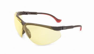 Uvex By Sperian Genesis XC Safety Glasses With Black Frame And Amber Polycarbonate Ultra-dura Anti-Scratch Hard Coat Lens