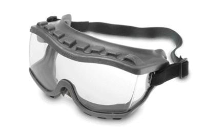 Uvex Strategy Indirect Vent Over The Glasses Goggles With Gray Light Weight Soft Frame, Clear Uvextra Anti-Fog Lens, Foam Liner And Fabric Headband