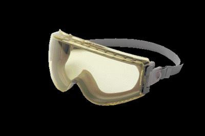 Uvex Stealth Chemical Splash Impact Goggles With Gray Frame, Amber Uvextreme Anti-Fog Lens And Neoprene Headband