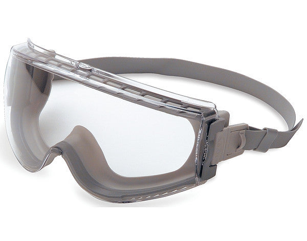 Uvex Stealth Over The Glasses Chemical Splash Impact Goggles With Navy Frame, Clear Anti-Scratch/Anti-Fog Lens And Nylon Headband
