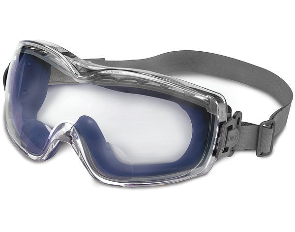 Uvex Stealth Reader Impact Goggles With Navy Frame, 3.0 Diopter Clear Uvextreme Anti-Fog Lens And Neoprene Head Band